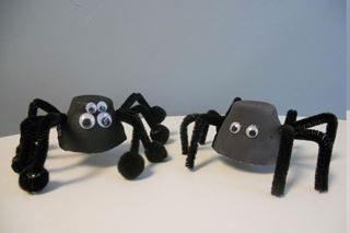 Egg Carton Spider - Critter Crafts: Insect Craft Activities for Elementary Students