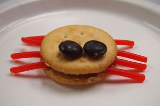 Edible Spiders - Critter Crafts: Insect Craft Activities for Elementary Students