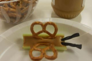 Celery & Pretzel Butterflies - Critter Crafts: Insect Craft Activities for Elementary Students