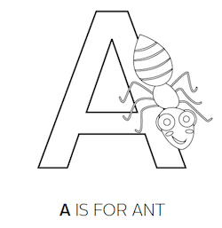 Letter Association Worksheets - Bug Activities for Pre-K