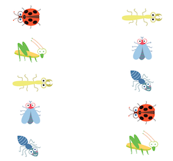 Bug Matching Worksheet - Insect Facts & Activities for Pre-K