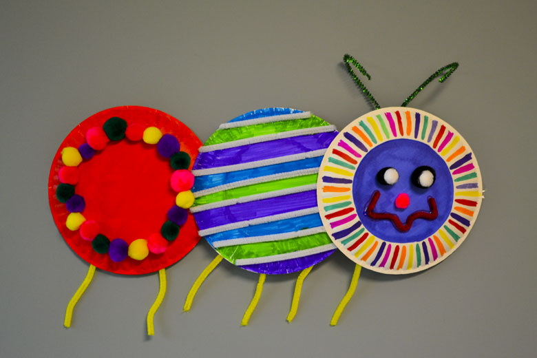 Caterpillar Craft With Paper Plates