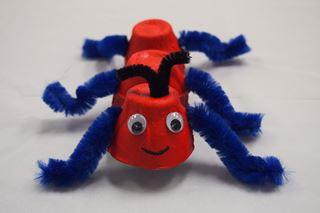 Egg Carton Ant - Critter Crafts: Bug Crafts for Kids